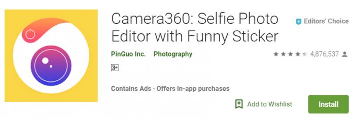 Camera 360 Selfie Photo Editor