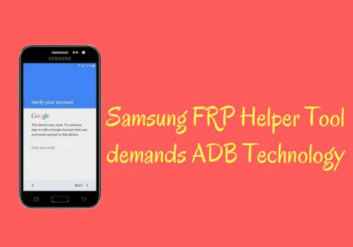 Samsung FRP Helper Tool
