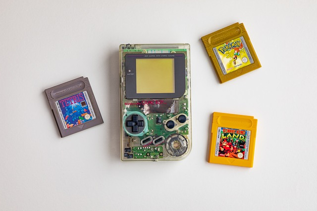 Portable Game boy with games